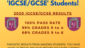 2020 IGCSE/GCSE RESULTS