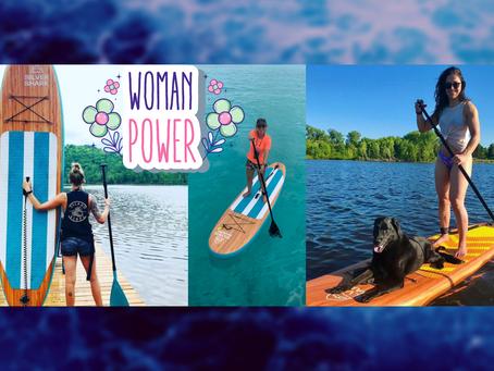 3 entrepreneur women who paddle board!