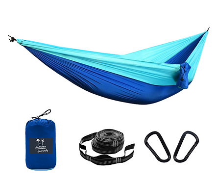 Blue Wave | Silver Shark Double Hammock With Straps