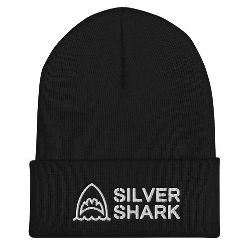 Silver Shark Cuffed Beanie