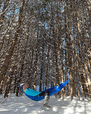 Double Hammock Compact for camping Silve