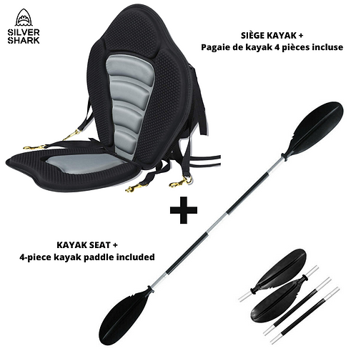 Premium Kayak Seat+ 4-Piece Kayak Paddle