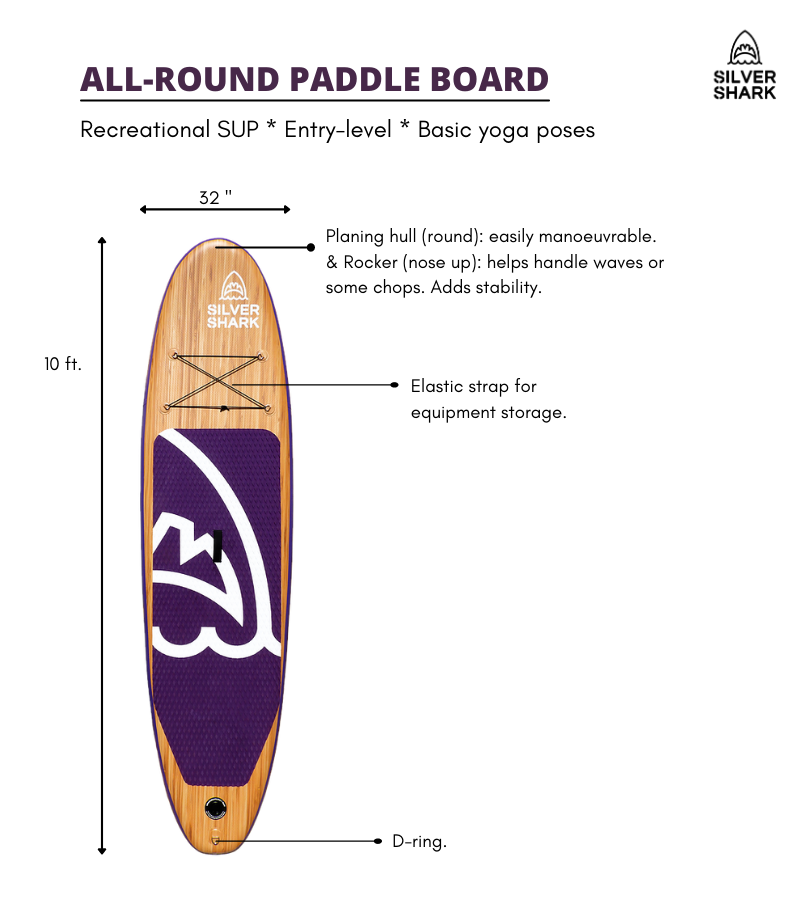 All-round inflatable paddle board best inflatable sup canada Silver Shark