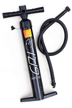 Dual action pump for inflatable paddle board