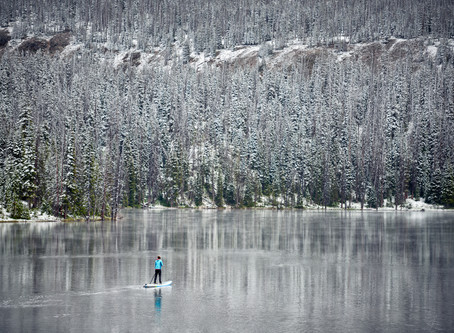 Why winter paddle boarding is popular in Canada