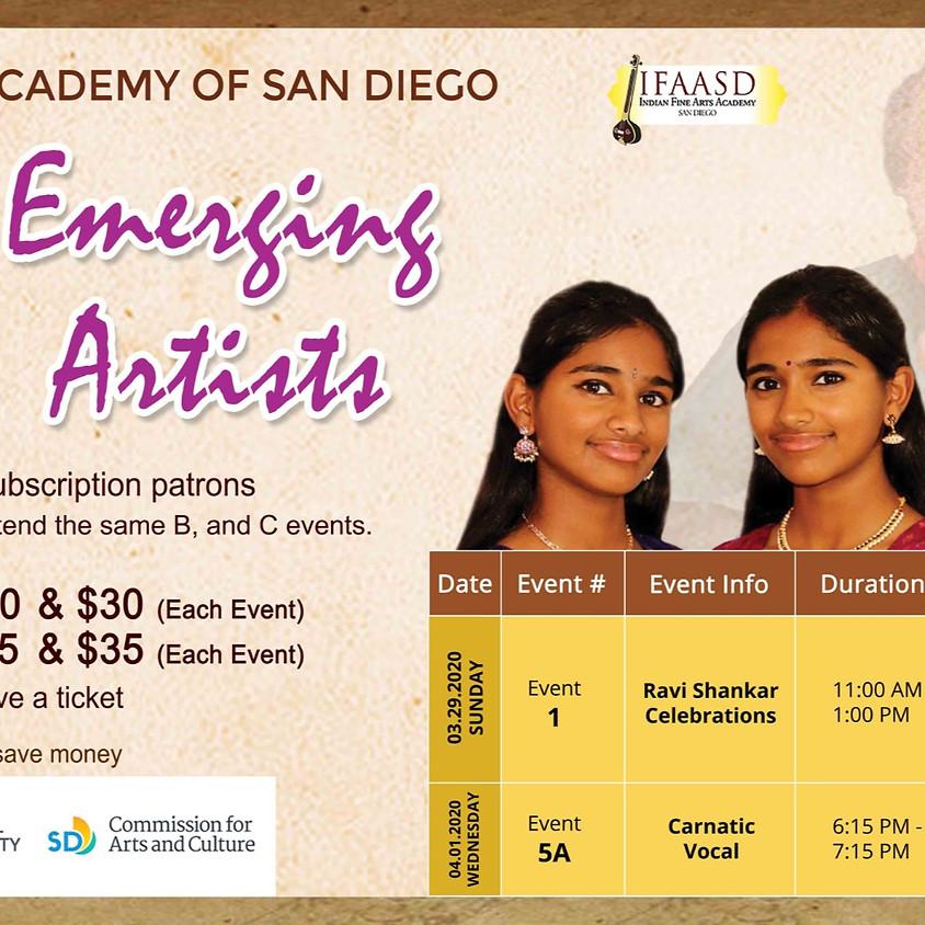 emerging artists [Event 5A]