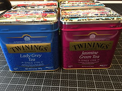 Tea Canisters with Tea Bag Books.JPG
