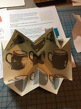 Fold - Page Insert Pop-up w:Coffee Cups.