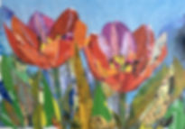Collage - Two Tulips (Red_Orange_Violet)