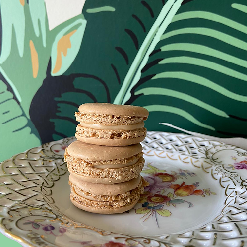 Macaron al caffè e caramello salato 10 pz (100 g)