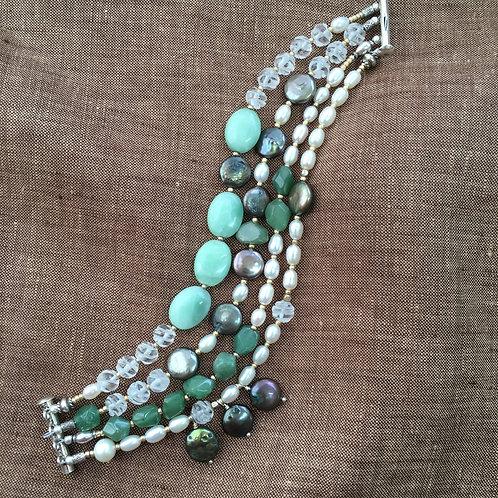 Aventurine and Pearls