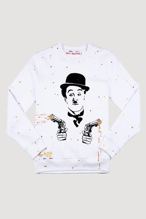 Pull blanc - Angry Chaplin