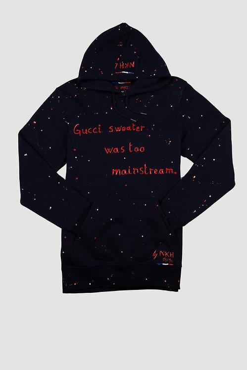 Sweat à capuche bleu marine - Mainstream Gucci