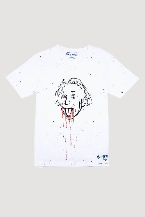 Tee-shirt blanc - Crazy Einstein