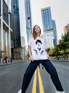 Tee-shirt Chaplin Peinture