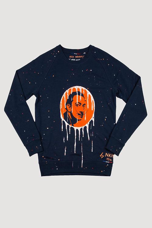 Pull bleu marine orange - Machiavellian Dali