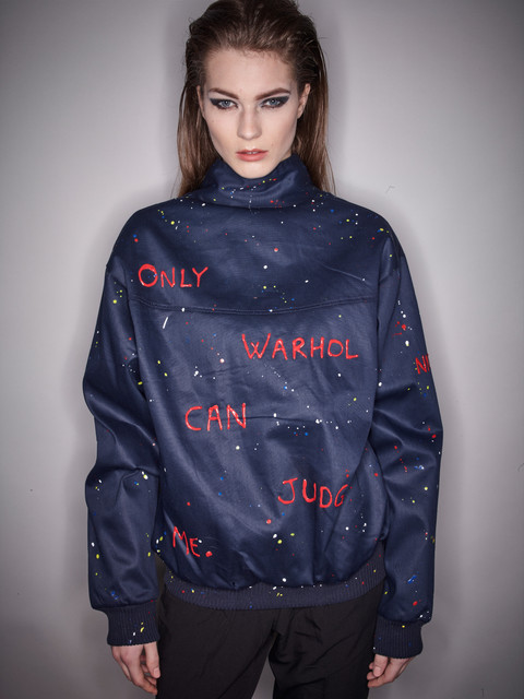 Veste Harrington : Only Warhol can judge me