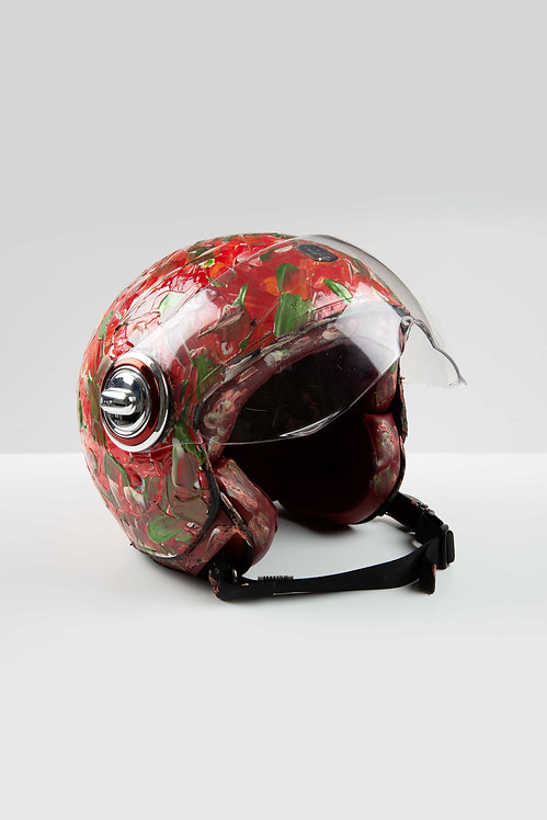 Casque de moto collab' Exklusiv – Orange Masterpiece