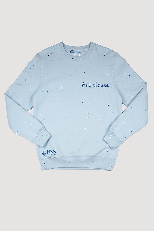 Pull bleu ciel - Art please.