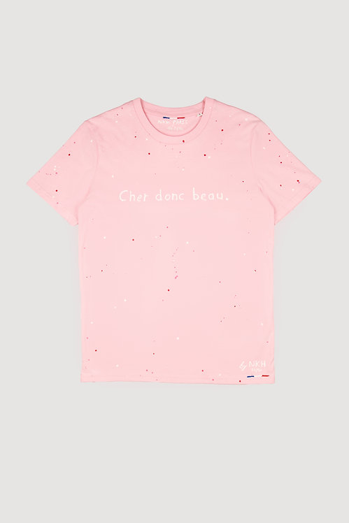 Tee-shirt rose - Cher donc beau