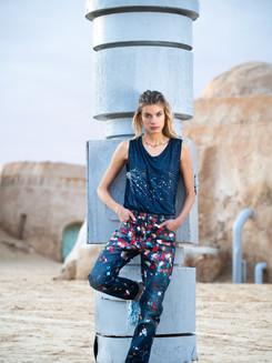 Jeans peinture - shooting Tunisie