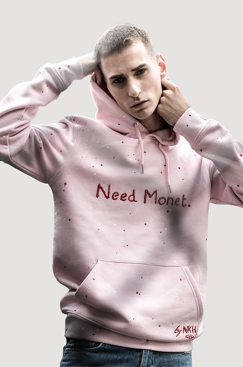 Sweat à capuche rose - Need Monet