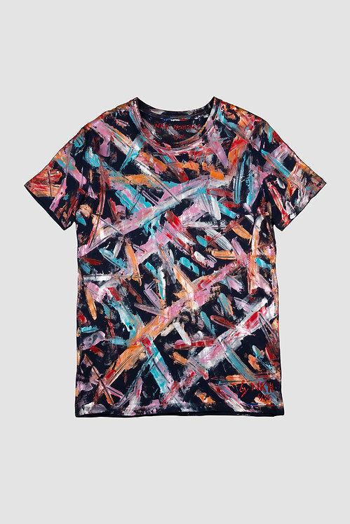 Tee-shirt bleu marine - Orange masterpiece