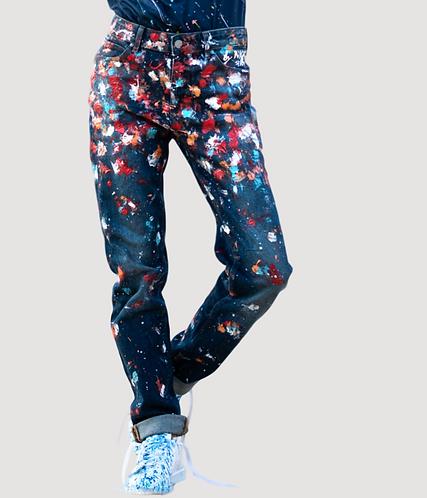 Jeans bleu délavé – Clumsy artist