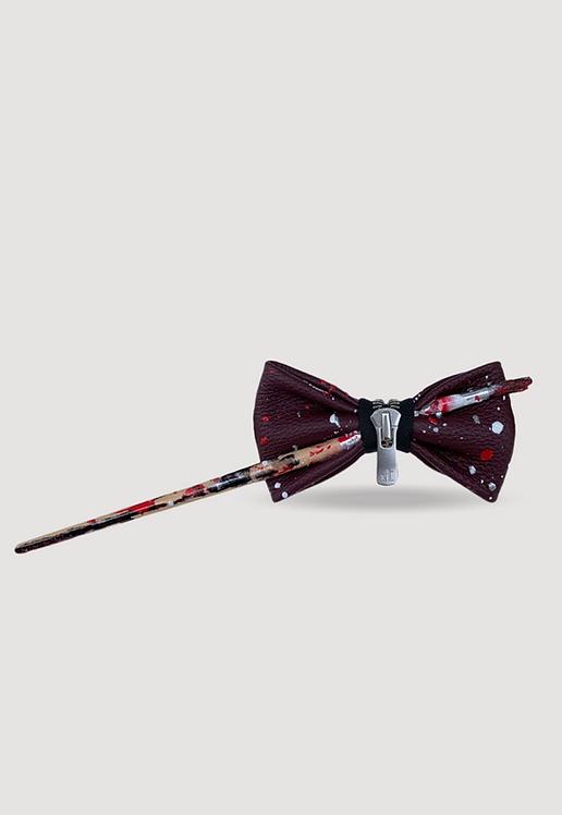 Noeud papillon en cuir collab Bold &Bow x NKH