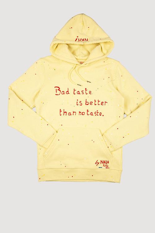 Sweat à capuche jaune - Bad taste