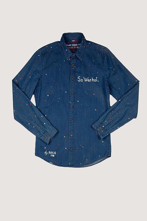 Chemise en jeans - So Warhol.