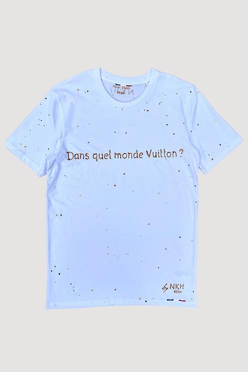 Tee-shirt blanc - Joli monde