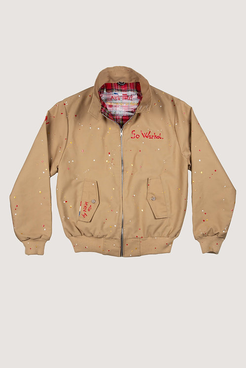 Veste Harrington camel - So Warhol