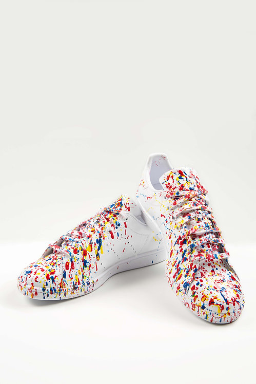 Sneakers blanches  – Crazy fireworks