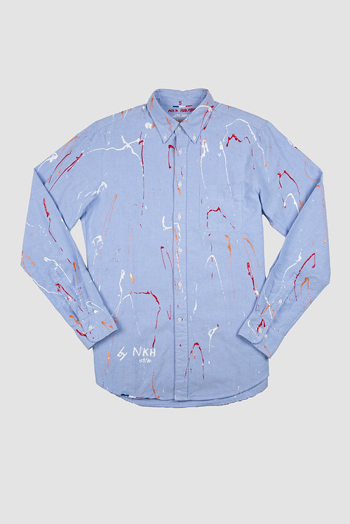 Chemise oxford bleue - Clumsy artist