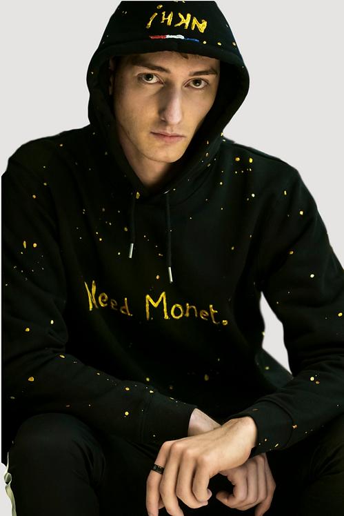 Sweat à capuche noir - Need Monet