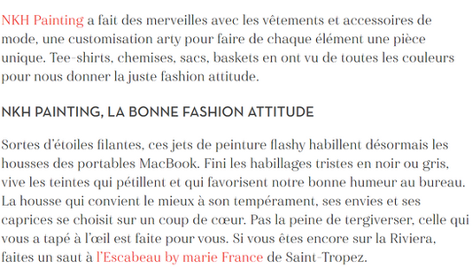 Article magazine Marie France