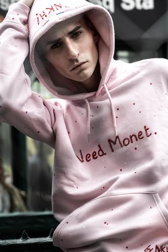 Hoodie rose - Need Monet
