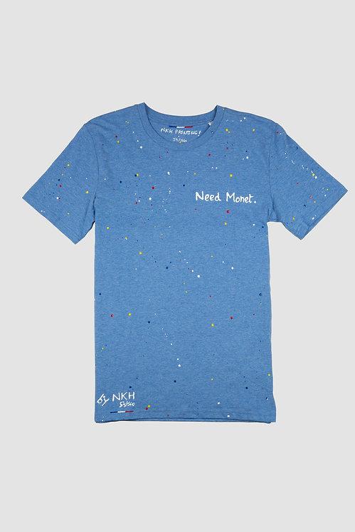 Tee-shirt bleu chiné - Need Monet