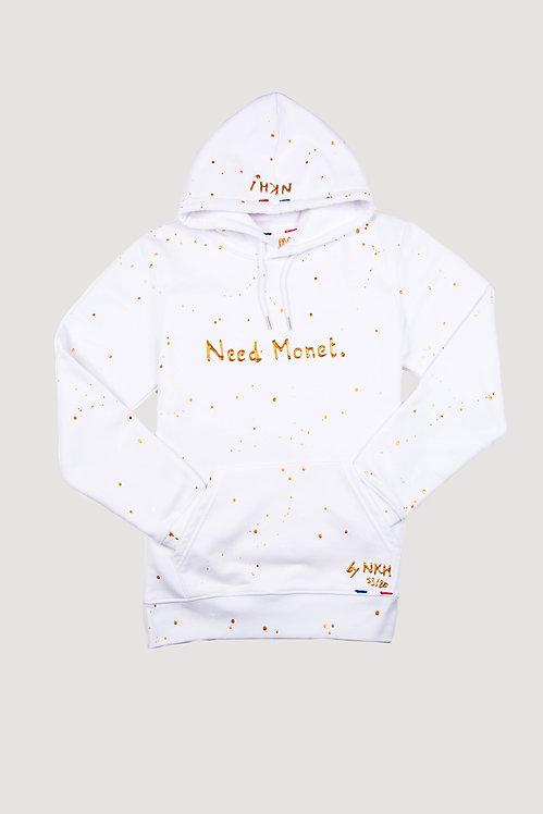 Sweat à capuche blanc - Need Monet