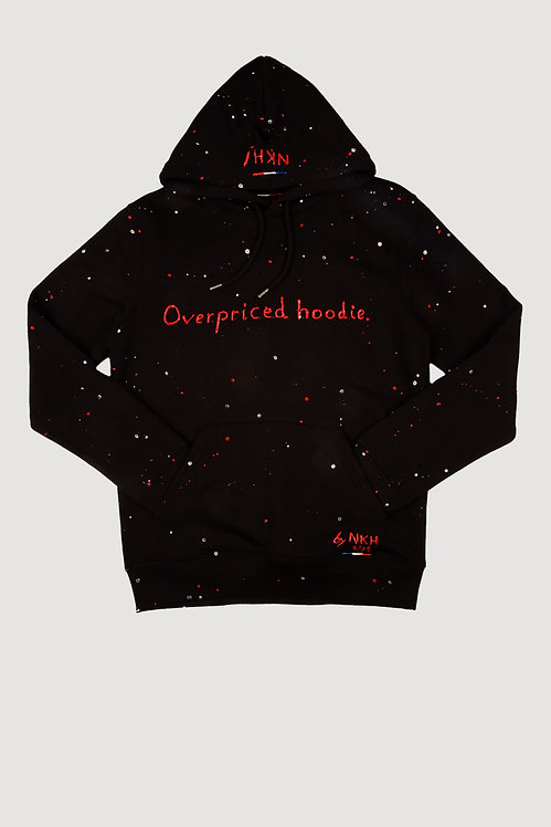 Sweat à capuche noir - Overpriced hoodie (Swarovski)