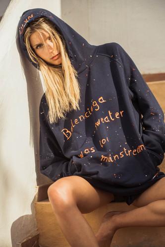 Hoodie bleu marine - Mainstream Balenciaga