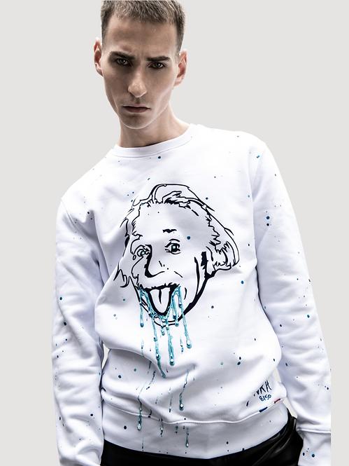Pull blanc - Crazy Einstein