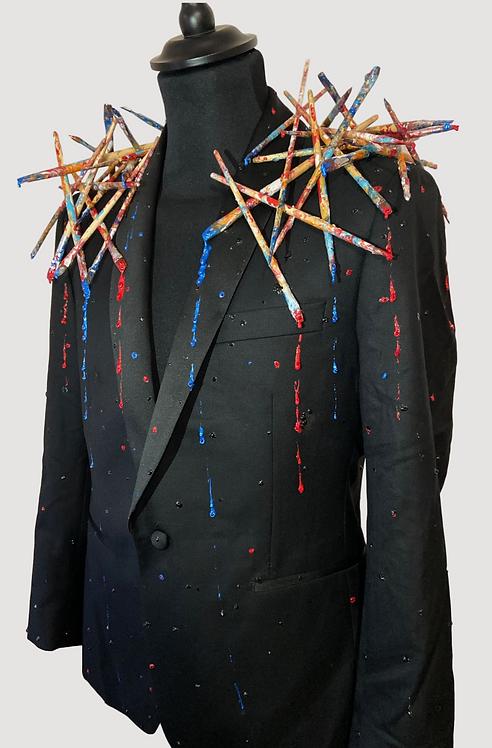 Veste blazer noire - Artist waterfall