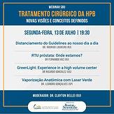 WEBINAR SBU TRATAMENTO CIRÚRGICO DA HPB NOVAS VISÕES E CONCEITOS DEFINIDOS