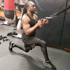 Resistance Band Reverse Lunge