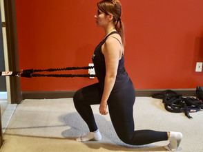 Resistance Band Resisted Reverse Lunge