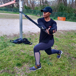 Resistance Band Core Rotation Twist & Lunge