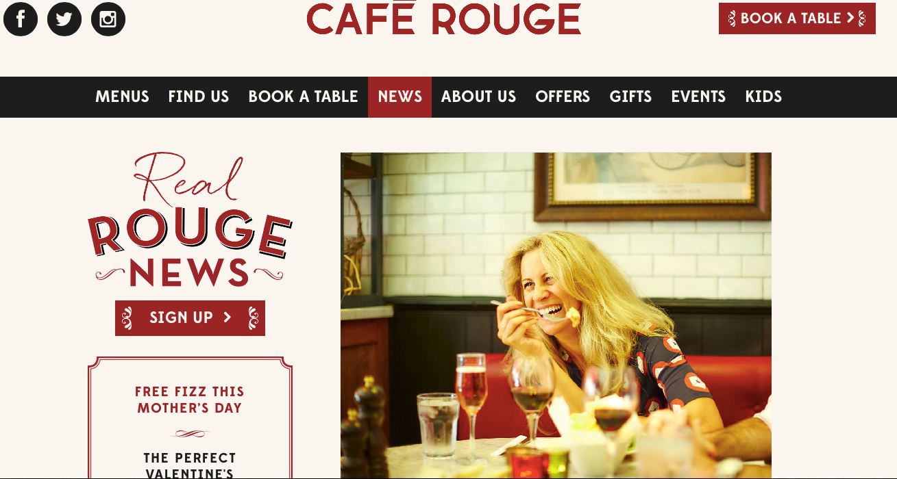 Cafe Rouge Ad campaign 2016