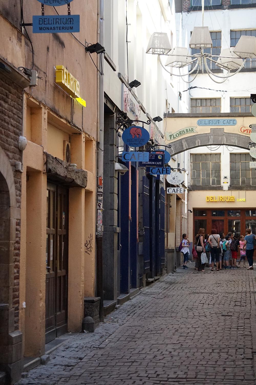 Пивная улица в Брюсселе